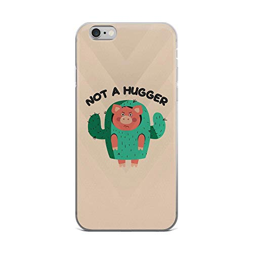 iPhone 6 Plus/6s Plus Pure Clear Case Cases Cover Pig Costume, Not a Hunger Funny Animal -