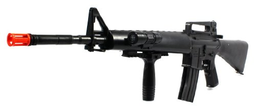 black guard m16-a2 spring airsoft gun rifle flashlight fps-250(Airsoft Gun)