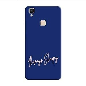 Cover It Up Always Sleepy Hard Case For Vivo V3 Max - Blue