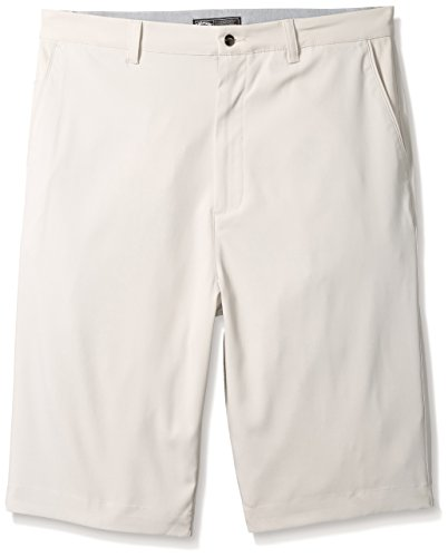 Slant Tall Shorts Big And Pockets (Callaway Men's Big & Tall Golf Performance Flat Front Tech Shorts, Silver Lining, 36 Tall)