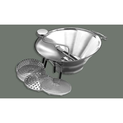 Winco SVM-12 Stainless Steel Food Mill with 5 Graters, 5-Quart