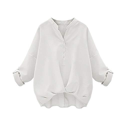乱暴な石の羊の服を着た狼[アナトレ] レディース スキッパーシャツ 袖ボタン付き 長袖 7分袖 調整可 カシュクール ブラウス 全4色 S~5XL