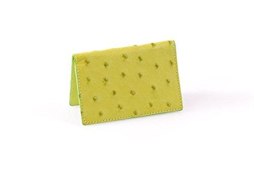 - Ostrich Business Card Case (Summer Lime)
