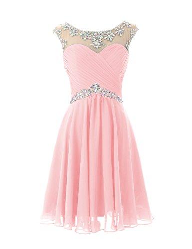 Vestito Rosa Colore A Da Da Sexy Breve Abiti Ritorno Di Compleanno Partito Di Casa Ballo Chiffon Vestito Dresstells HT7wfxaAqq
