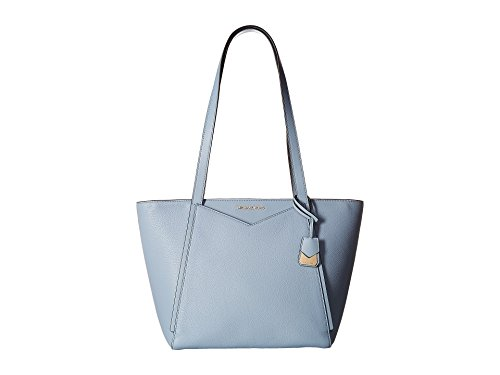 Michael Kors light blue purse | Michael Kors Small Whitney Pebbled Leather Tote- Pale Blue