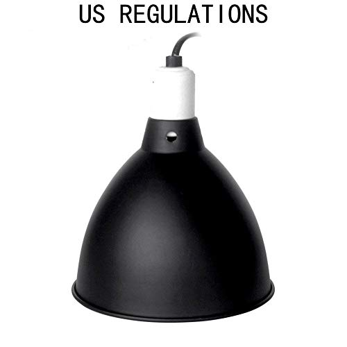 Reptile Reflector lamp Shade Light Holder Dome Shaped Stand lampshade pet Lighthouse Tortoise uvb+uva8.5 inch Aluminum high Reflective deep Barrel Floor Matching Turtle