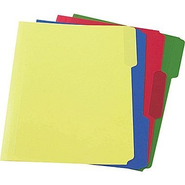 Staples Colored Paper - Staples Heavyweight Poly File Folders, Letter, Assorted, 24/Box