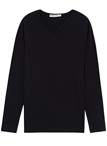meters-bonwe-womens-v-neck-long-sleeve-slim-fit-pullover-tee-black-xl
