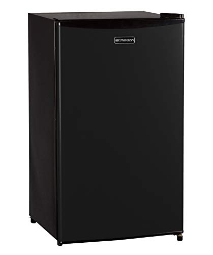 Emerson CR330BE 3.3 Cubic Foot Compact Single Door Refrigerator Black