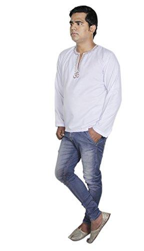 Vêtements mode shirt - coton manches longues mens kurta - robes inde