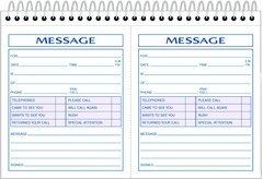 ABFSC5805D - Adams Phone Message Book by Adams