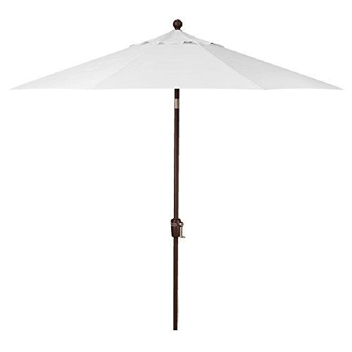 Treasure Garden 9-Foot (Model 810) Deluxe Auto-Tilt Market Umbrella Bronze Frame Sunbrella Fabric: Natural (Includes 3 Year Extended Frame Warrantee) ()