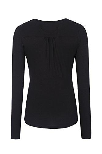 Bellybutton, Camisetas de Manga Larga Premamá para Mujer Schwarz (black 1048)