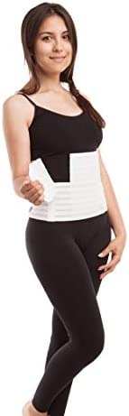 """GABRIALLA Women's Breathable Abdominal/Back Support Binder AB-309: White , Small Up to 34"""" 1"""