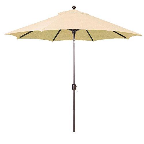 9-Foot Galtech (Model 737) Deluxe Auto-Tilt Umbrella with Antique Bronze Frame and Sunbrella Fabric Antique Beige (Includes Extended Frame Warrantee)