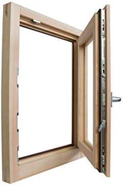 Ventana de madera laminada en bruto de 60 x 100 cm (largo x alto x ancho) - Doble cristal - Asa - Levada - Lista para ser barnizada de cualquier color: Amazon.es: Bricolaje y herramientas