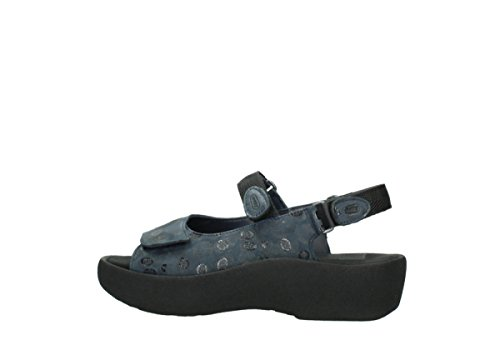 Wolky Womens Leather 3204 Blue Sandals Jewel PwCAFYwq