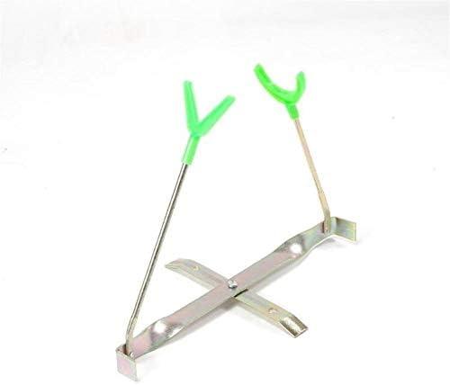 折り畳み式の釣りロッドブラケットポータブル冬のアウトドアメタルダブルヘッドアジャスタブルブラケット釣りタックル