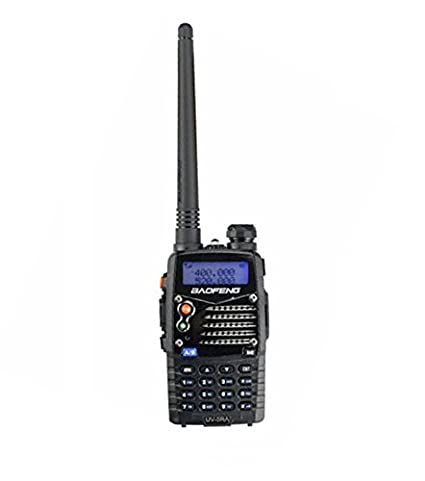 Mengshen Baofeng UV-5RA Radio portable 5RA Talkie Walkie Transceiver 5W VHF + UHF DTMF VOX FM Ham Radio Original Black Noir