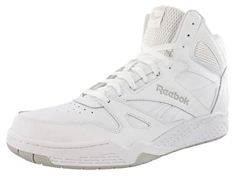 Reebok Men's ROYAL BB4500H XW Fashion Sneaker, White/Steel, 11 4E US