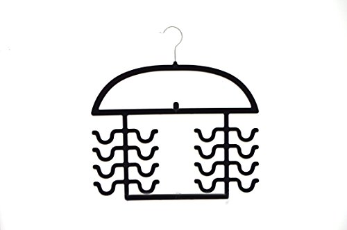 Velvety Womens Sport Tank Top, Cami, Bra, Strappy Dresses, Bathing Suit Closet Organizer Hanger, Set of 2 Black