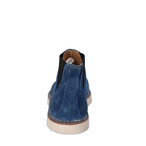 MOMA Stiefeletten Damen 37 EU Blau Wildleder