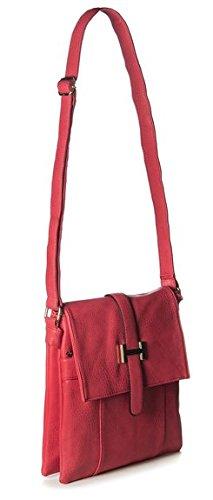 Ladies Faux Leather Cross Body Messenger Bag Women Shoulder Tote Satchel Handbag Black
