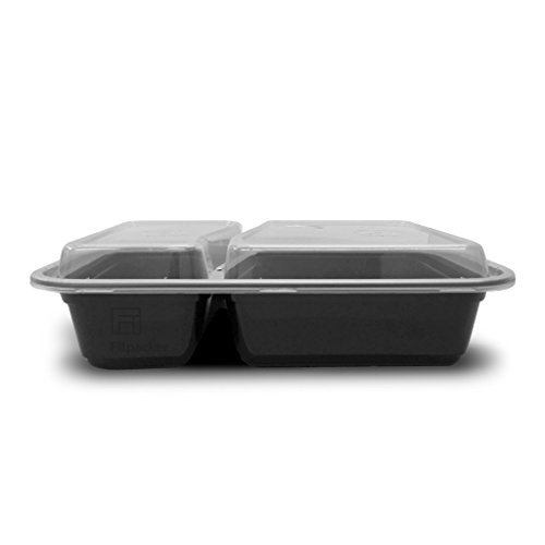 fitpacker duo 2 compartment meal prep containers reusable with lids microw. Black Bedroom Furniture Sets. Home Design Ideas
