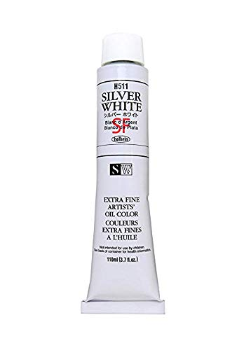 Holbein Oil Color Silver White 110ml tube