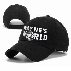 Magic Headwear Wayne's World Adult Adjustable Black Baseball Hat Cap