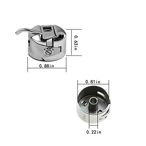 5 Pieces Sewing Machine Bobbin Case,20 Pieces Sewing Bobbins,5 Count Universal Regular Point Machine Needles for Front Loading 15 Class Machines