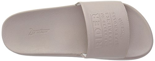 Rider Frauen Power up Plat Slide Sandale Beige