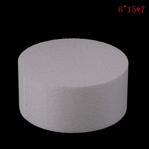 3d Flower Wedding - Patrice Model Round Styrofoam Foam Cake Dummy Sugarcraft Flower Decor 10 15 20 25cm Inch - Cake Round Case Airplane Polystyren Decoration Remote Round Foam Kit Styrofoam Hom ()