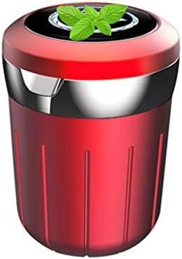プロの車の灰皿、キャデラックとの互換性、ふた付きSo貯蔵タンク多機能旅行居間 (Color : 赤)