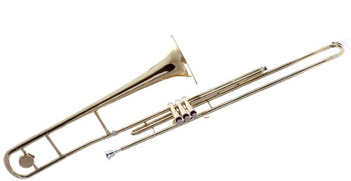 Fever Valve Gold Bb Trombone with Case and Mouthpiece by Fever