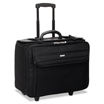 Solo B1514 Classic Rolling Catalog Case, 17.3'', 18'' x 7'' x 14'', Black by Solo