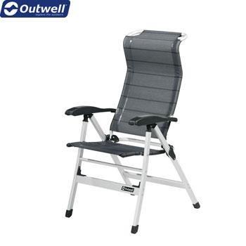 Outwell Columbia - Silla plegable, respaldo alto, titanio ...