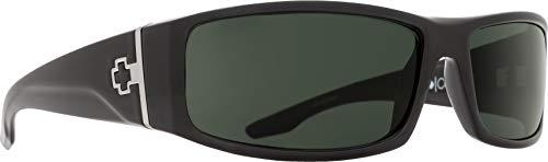 arized Wrap Sunglasses, Shiny Black Frame/Grey Lens, One Size ()