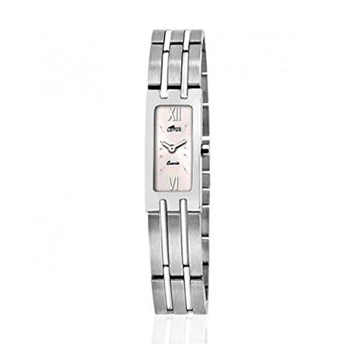 Lotus Reloj analogico para Mujer de Cuarzo con Correa en Acero Inoxidable 15270/1: Amazon.es: Relojes