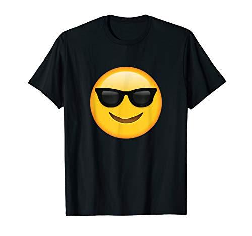 Sunglasses Emoji Shirt Emoticon with Smiley Face ()