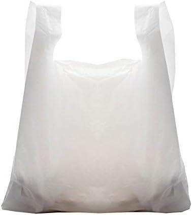 stile supermercato Carrier Bags Online misure: 33/x 48,3/x 58,4/cm buste di plastica bianche standard confezione da 100 sacchetti