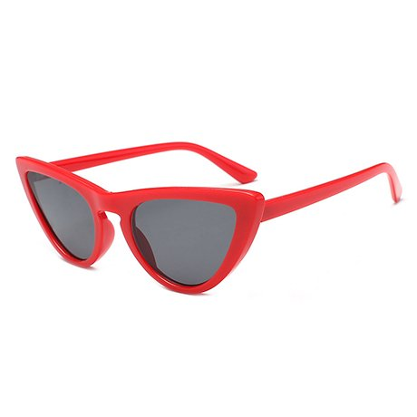 Uv400 de Female Gafas Mujer sol Triangle de Frame Uv400 Red GGSSYY Purple White Frame Protection sol Eye Gafas Multi qPxq4az