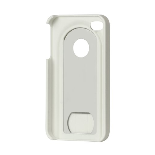 Apple iPhone 4 4G 4S Hard Case Slide Flaschenöffner Edelstahl Schale Bumper Weiss