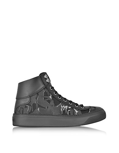 Jimmy Choo Hi Top Sneakers Uomo ARGYLECBXBLACK Tessuto Nero