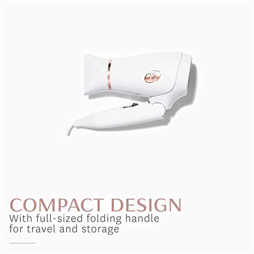 T3 - Featherweight Compact Folding Hair Dryer | Lightweight & Portable Dual Voltage Travel Hair Dryer | T3 SoftAire Technology for Fast, Healthy, and Frizz-Free Blow Drying | Includes Storage Bag by T3 Micro (Image #1)