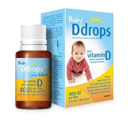 Ddrops pour bébé Ddrops 400 UI (2,5 ml), 90-gouttes Box