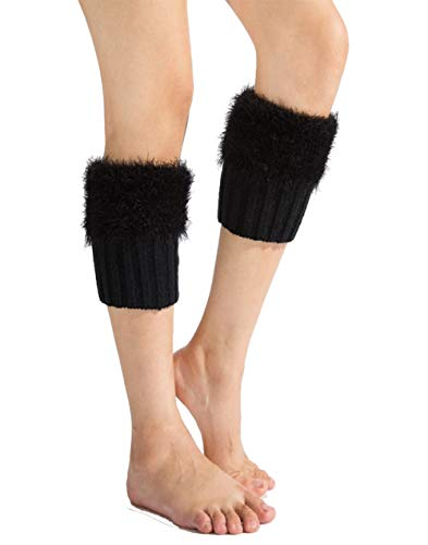 Women's Short Boot Cover Warmer Crochet Cuffs Socks Toppers Knit Fur Leg Warmer ()