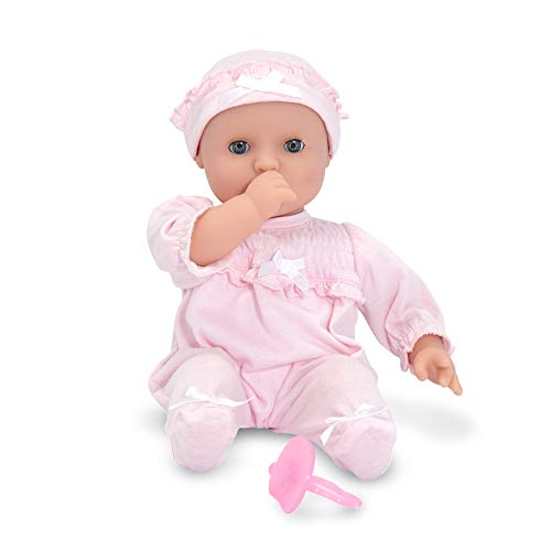 Melissa & Doug Mine to Love Jenna 12-Inch Soft Body Baby Doll (Romper and Hat Included, Great Gift for Girls and Boys - Best for Babies, 18 Month Olds, 24 Month Olds, 1 and 2 Year Olds)