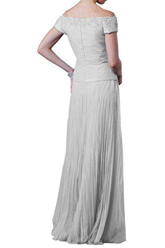 Vestidos de baile Toscana novia sin tirantes de moda Noche de tul vestidos del partido largo y duro Bildfarbe