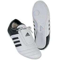 adidas® KICK Shoes Martial Arts Sneaker White with Black Stripes (9)